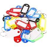 KAIKSO-IN 30 farbige Kunststoff-Schlüsselanhänger Gepäck ID Tags Etiketten Schlüsselanhänger mit Namenskarten
