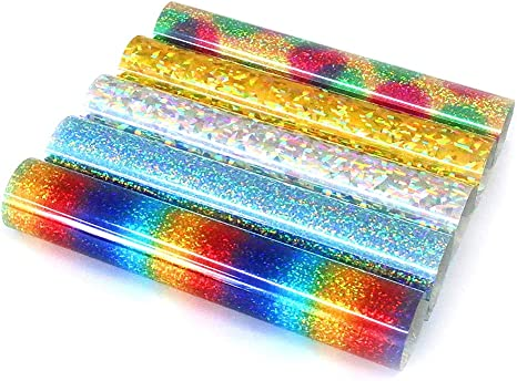 "Holographic Crystal Silver Heat Transfer Vinyl HTV TShirt 20/"" Iron On Heat Press"