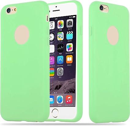 Cadorabo Coque pour Apple iPhone 6 Plus/iPhone 6S Plus en Candy Vert Pastel - Housse Protection Souple en Silicone TPU avec Anti-Choc et Anti-Rayures ...