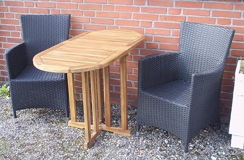 Balkontisch oval  Amazon.de: Balkon-Tisch Klapp-Tisch Gartentisch Beistell-Tisch ...