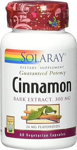 Solaray Guaranteed Potency Cinnamon Bark Extract 300 mg VCapsules, 60 Count