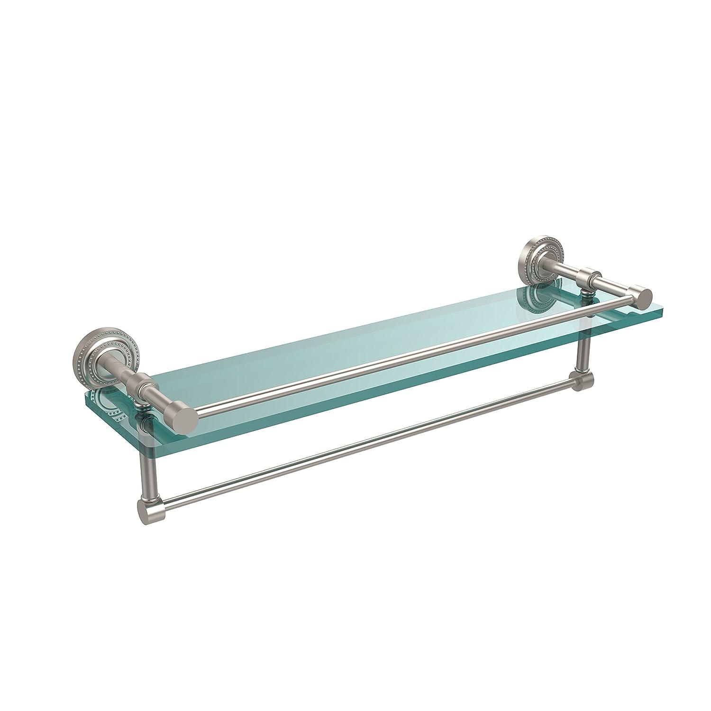 Allied Brass DT-1TB/22-GAL-SN 22-Inch by 5-Inch Glass Shelf with Towel Bar, Satin Nickel by Allied Precision Industries B00Y2G0OXG