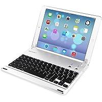 TECKNET iPad Air 2 Bluetooth Tastatur (Deutsche Layout QWERTZ), Kabellose Tastatur Hülle/Halterung mit Eingebauter Tastensperre für 9.7-inch iPad Pro