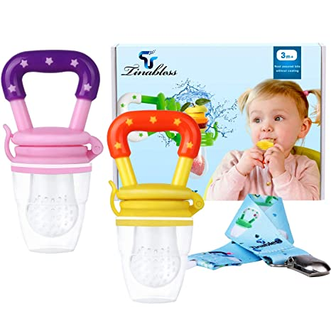 Baby Fruit Feeder Pacifier, Tinabless 2Pcs Silicone Baby ...