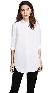 7e06000e4eec88 Amazon.com: MiH Jeans Women's Oversize Button Up Shirt, Ash Blue ...