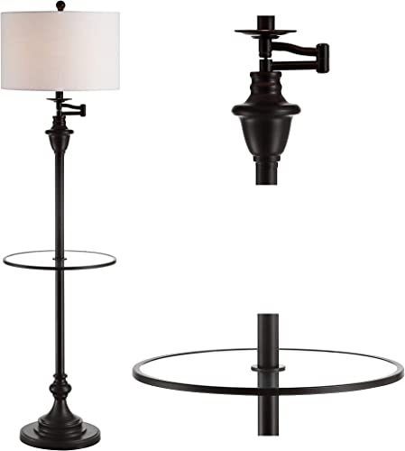 JONATHAN Y JYL3055C Cora 60″ Metal/Glass LED Side Table and Floor Lamp Contemporary,Transitional