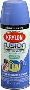 Krylon K02333007 Fusion for Plastic Spray Paint, Blue Hyacinth