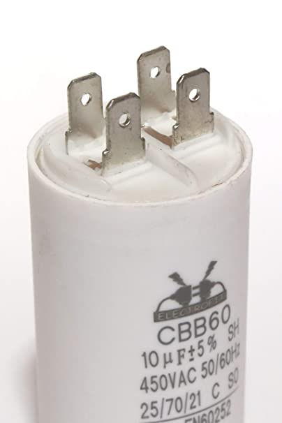 Electrofit CBB60 450 V, CA, 18 uF Condensador de motor