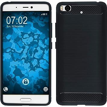 PhoneNatic Funda de Silicona Compatible con Xiaomi Mi 5s - Ultimate Azul - Cover Cubierta + Protector de Pantalla