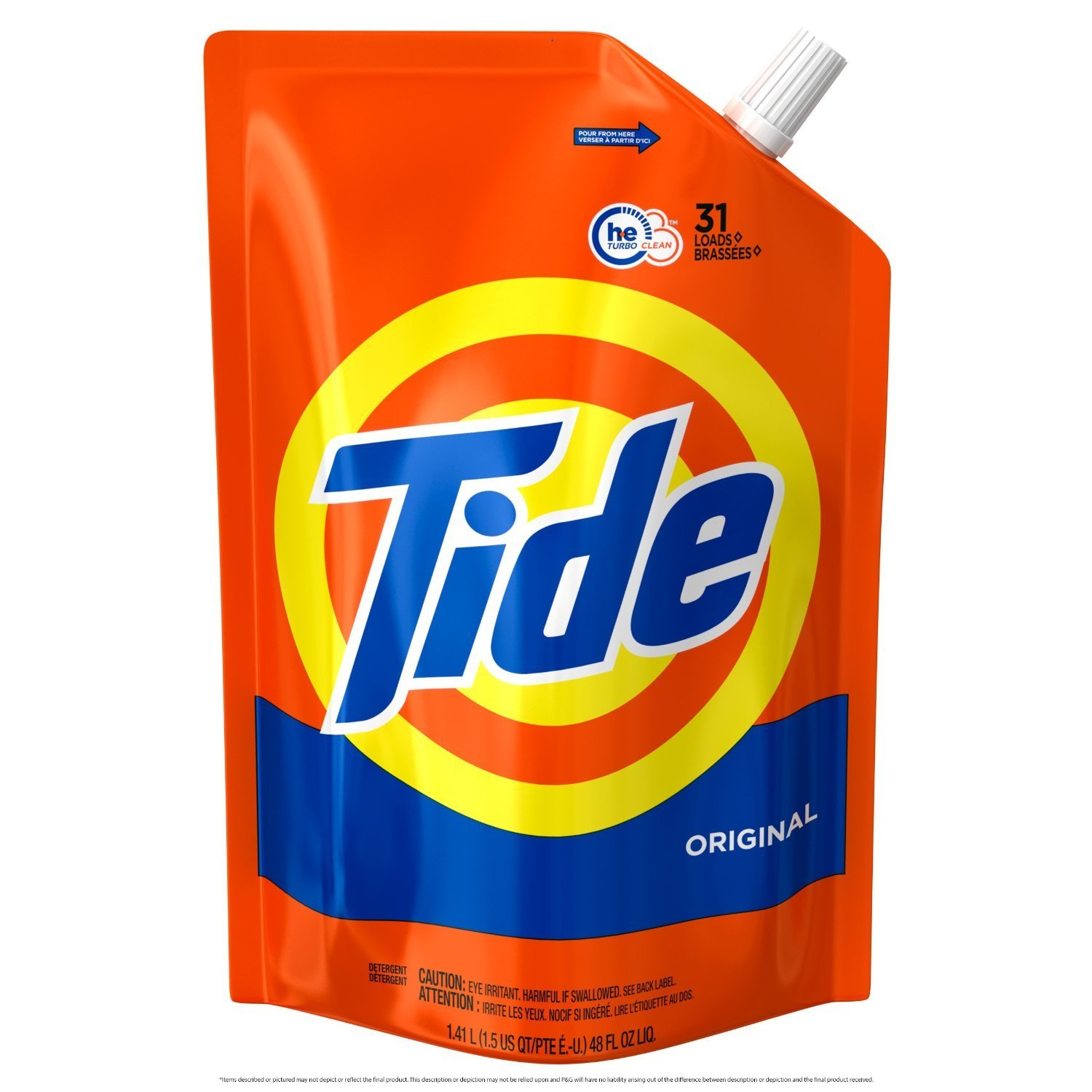 Amazon.com: Tide Liquid Laundry Detergent Smart Pouch, Original Scent, HE Turbo Clean: Home & Kitchen