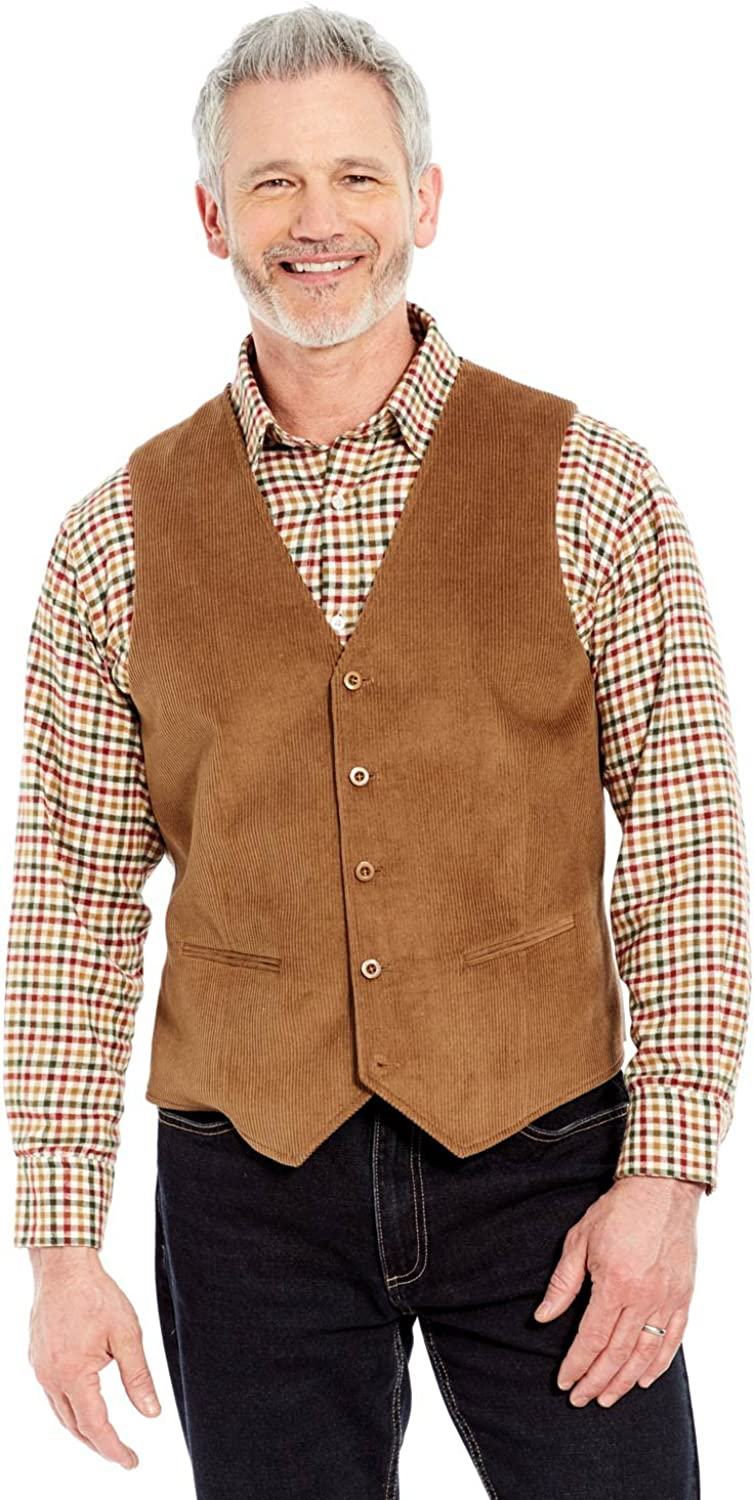 Men's Vintage Workwear Inspired Clothing Pegasus Mens Corduroy Waistcoat $69.29 AT vintagedancer.com
