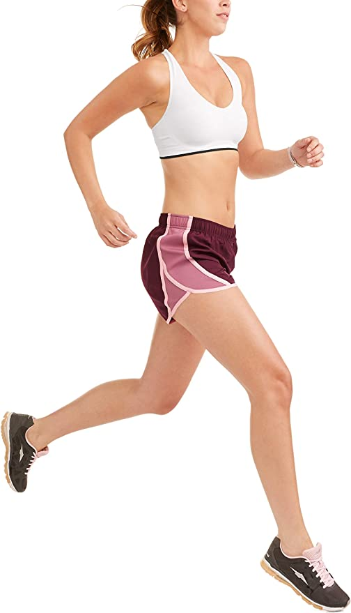 015, 014 Athletic Works Womens Burgandy Shorts Size XL 16-18