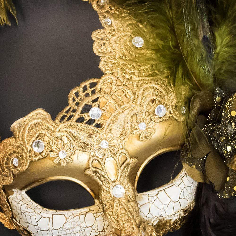Amazon.com: Venetian Goddess Masquerade Mask Made of Resin, Paper ...