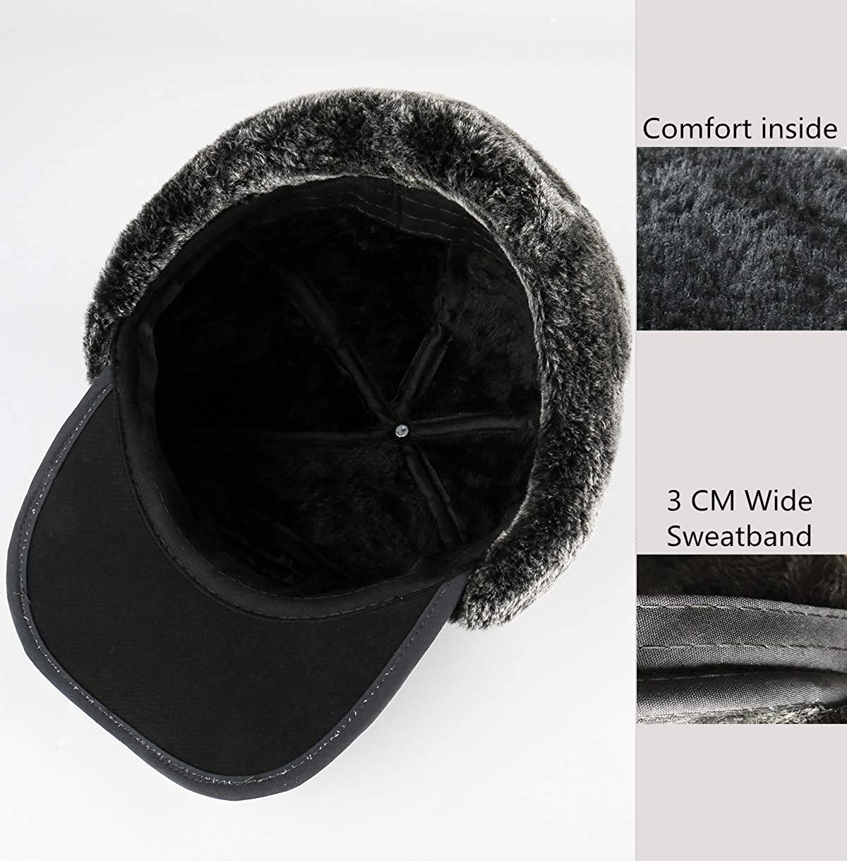 03f6712128a Yooeen Unisex Warm Winter Trapper Trooper Hat Mens Classic Winter Faux Fur Bomber  Hats with Ear Flap and Windproof Mask Snow Ski Outdoor Sport Hat Hunting ...