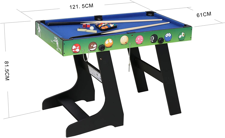 JCF 4 en 1 Mesa de Multijuegos Futbolín Mesa de Billar Hockey Mesa ...