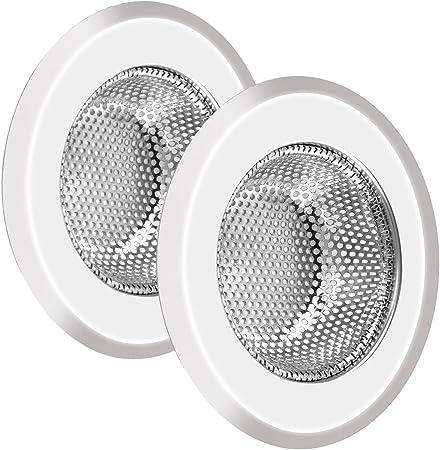 2pcs filtre de lavabo et d/'evier en acier inoxydable pour la Salle de bains e S0