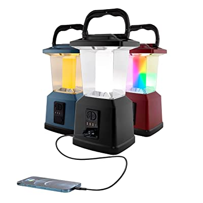 Color Changing Dimmable Led Camping Lantern Lights Portable Rechargeable Battery