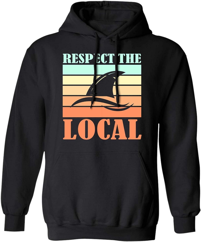 Respect The Locals Shark Awareness Marine Rights Beach Gifts T Shirt