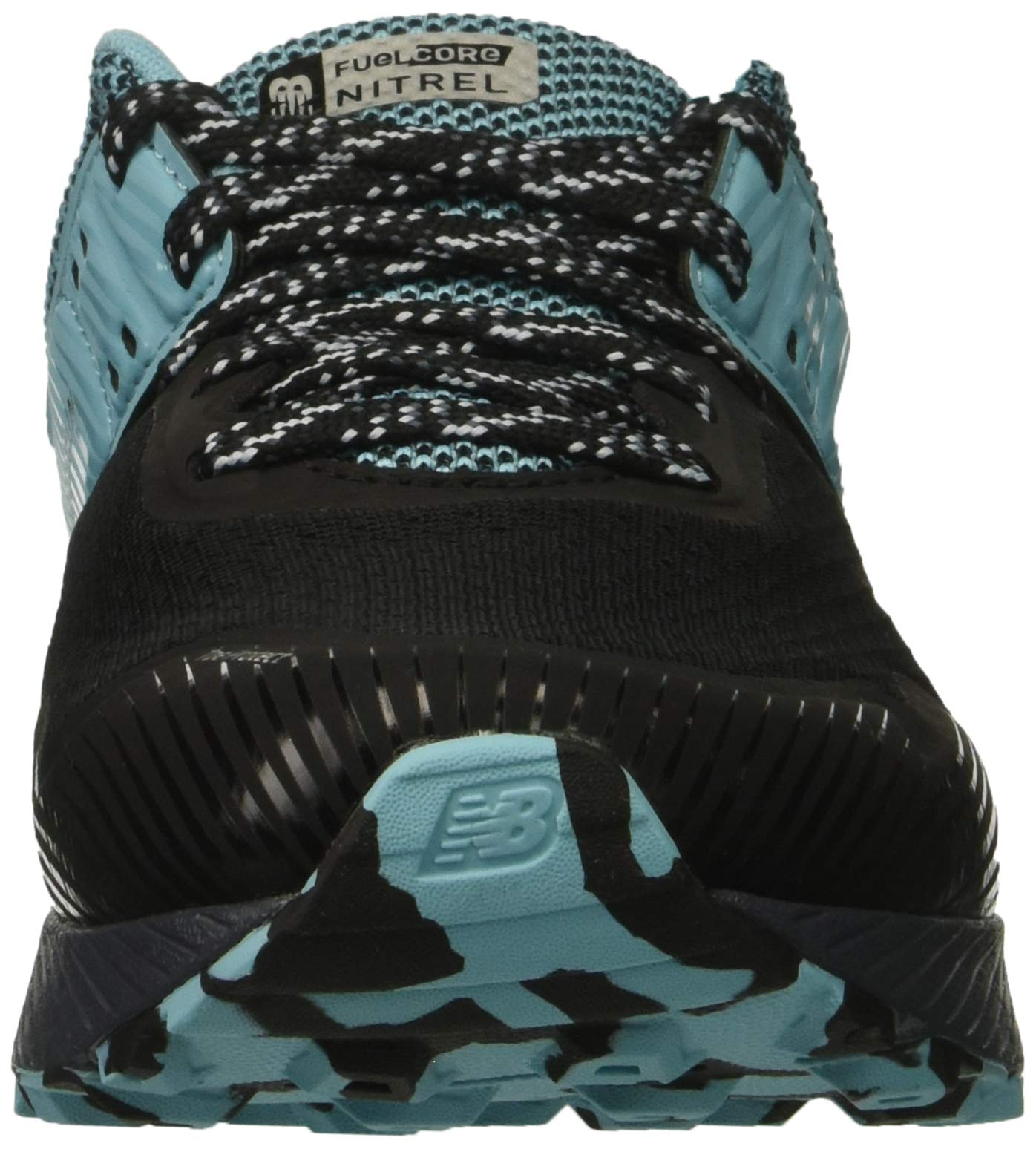 New Balance Women's Nitrel V2 FuelCore Trail Running Shoe, Black/Thunder/Enamel Blue, 6 B US by New Balance (Image #4)
