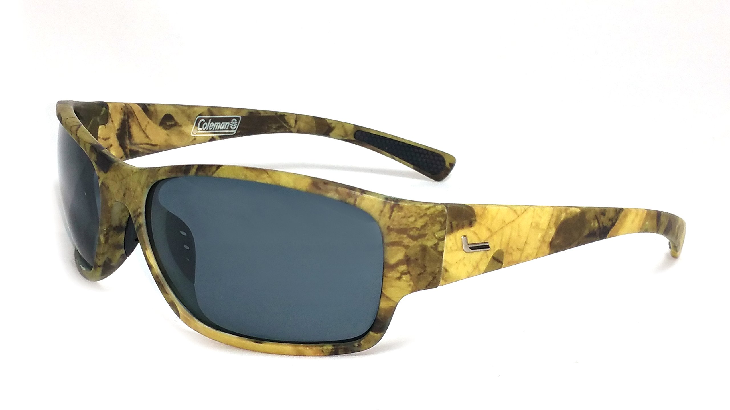 Coleman Predator Camouflage Polarized Rectangular Sunglasses, Bronze, 65 mm by Coleman