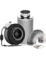 VIVOSUN Inline Fan with Speed Controller and Carbon Filter 8 Feet Ducting Combo