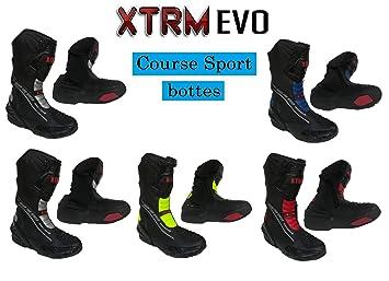 finest selection 86184 cc586 XTRM Bottes de Moto Evo Sports Bottes pour Adultes Nouveau 2019 Hommes et  Femmes Scooter Quad