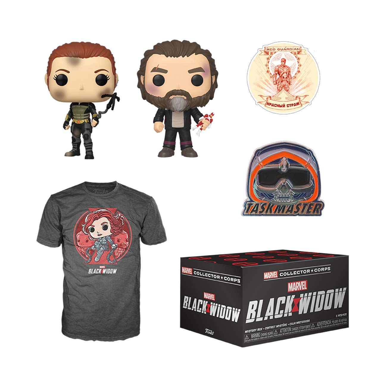 Funko Marvel Collector Corps Subscription Box, Black Widow Theme, May 2020, Small T-Shirt