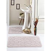 Banyo Paspas Seti Düz Pamuklu Taş Vizon