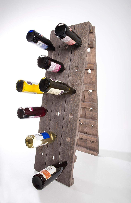 American WineKraft 素朴な木製壁掛けワインラック キッチン36ボトル 大容量ストレージディスプレイスタンド 41