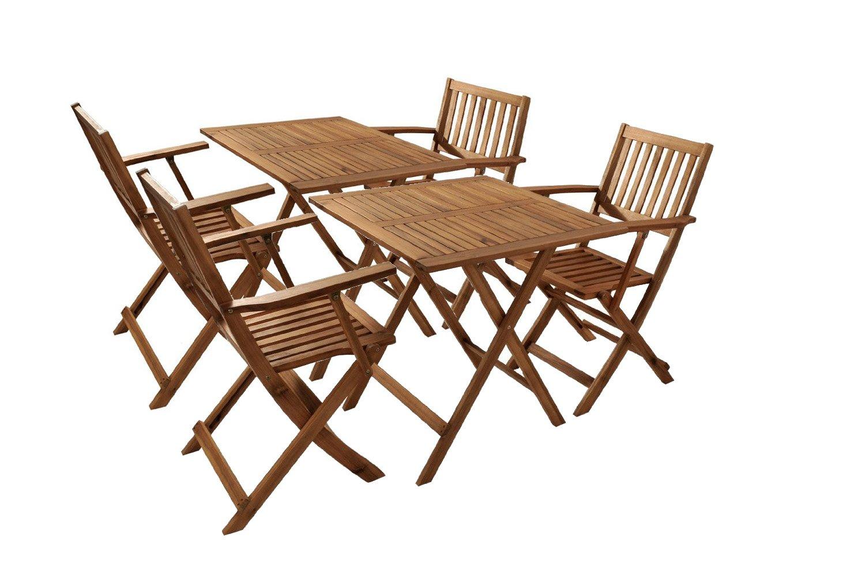 sam gartengruppe 2 camelia 6tlg ge lt garten m bel aus akazienholz bestehend aus 2 x tisch. Black Bedroom Furniture Sets. Home Design Ideas