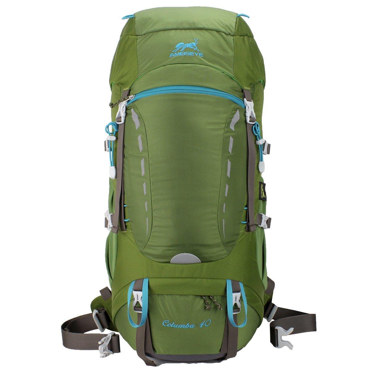 Eshow 40l Sac à Dos Randonnée Étanche avec Housse de Pluie Sac d'Alpinisme Imperméable Ultraléger pour Escalade Trekking Camping Eshow-MY4001-2