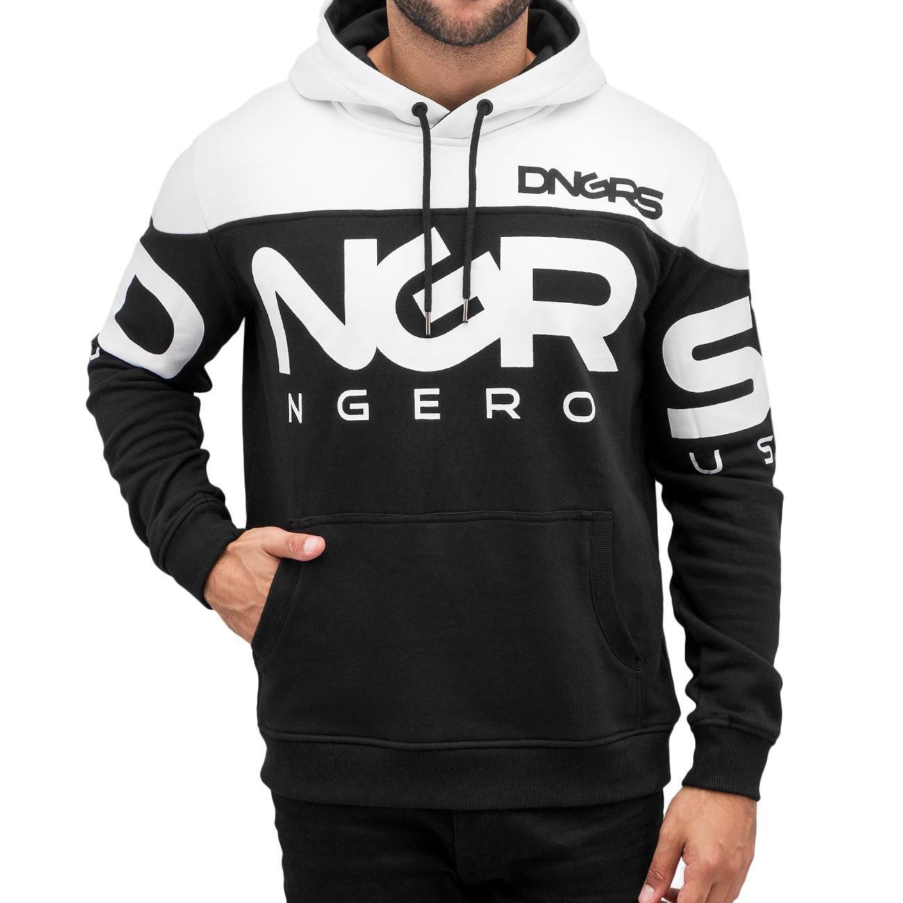 Dangerous DNGRS Männer Sport-Hoody Gino in schwarz