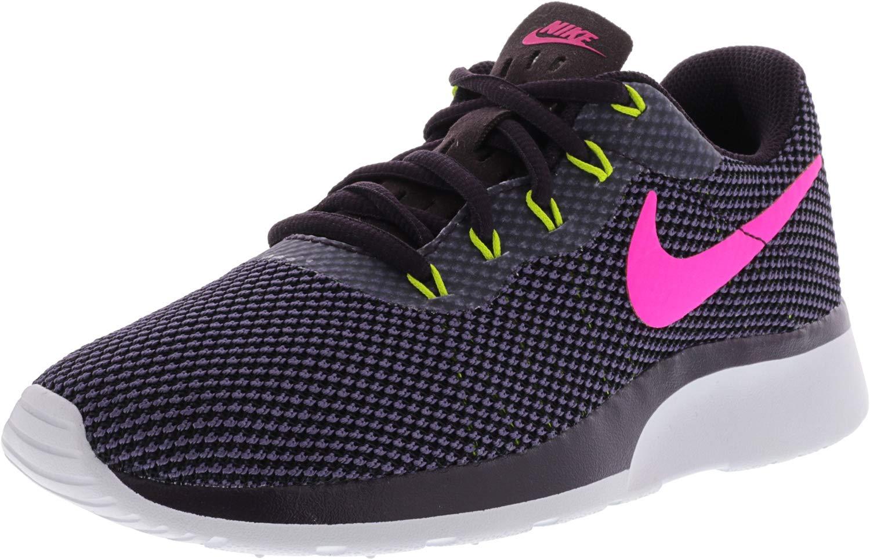 NIKE Women's Tanjun Racer Port Wine/Deadly Pink Ankle-High Running Shoe - 6M