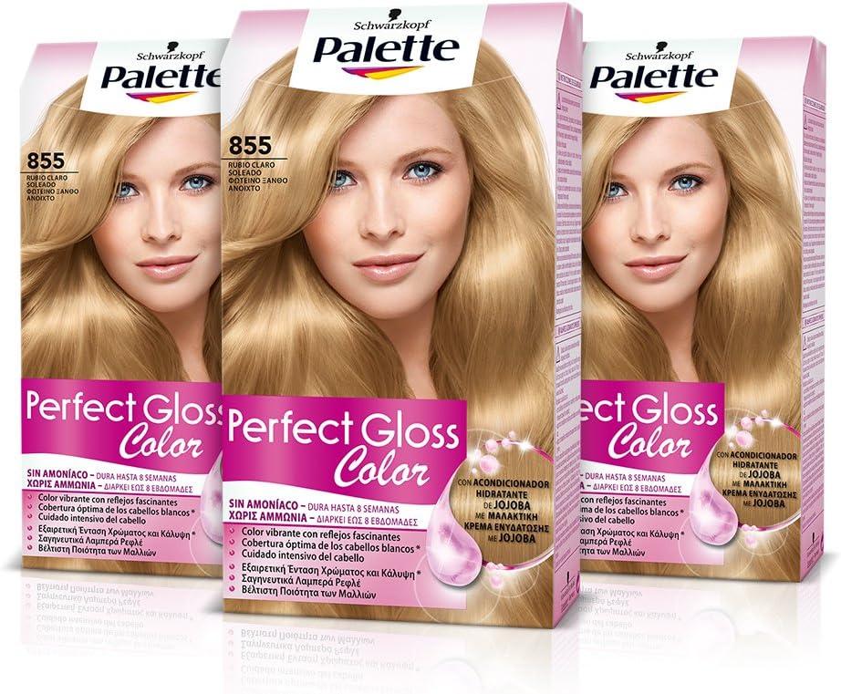 Palette Perfect Gloss Coloración del Cabello 855 Rubio Claro ...