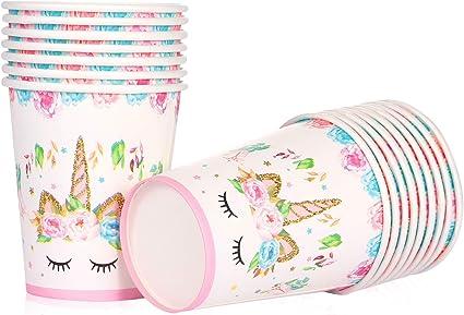 Amazon.com: Unicornio temático suministros de fiesta – vasos ...