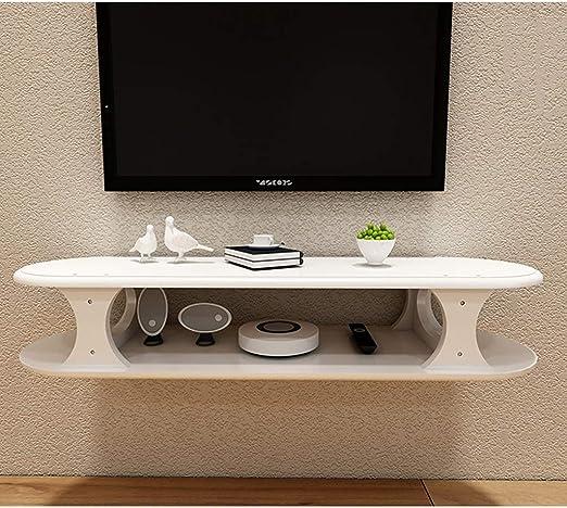 Consola de TV flotante montada en la pared blanca Soporte de TV ...