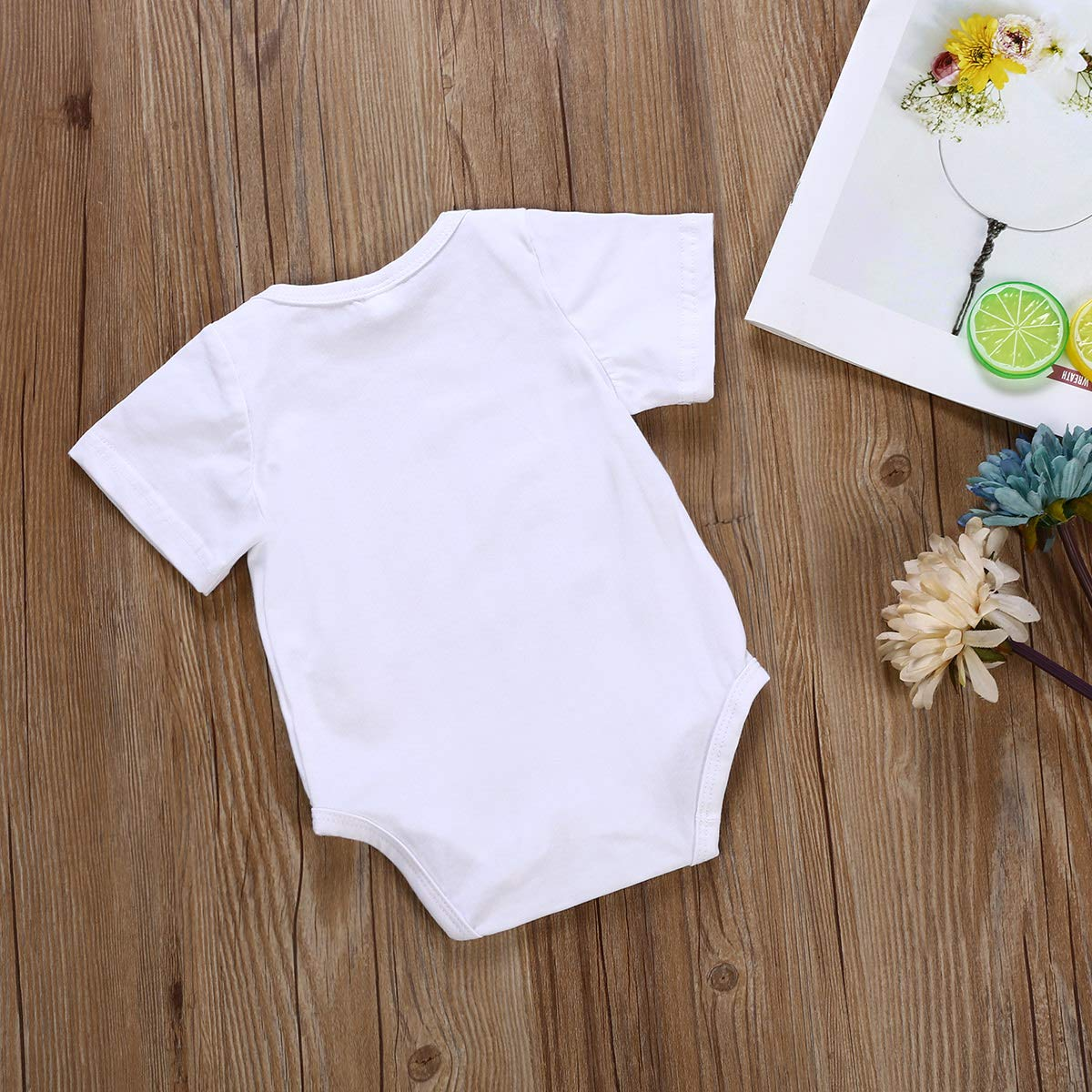 Infant Boys Girls Cotton Romper Toddler Baby My Auntie Loves Me Short Sleeves Onesies Bodysuit Outfits