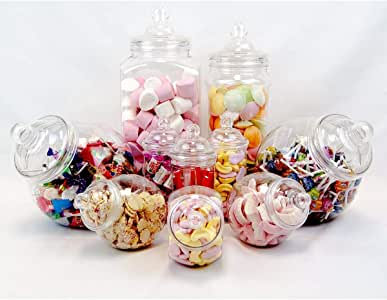 10 Jar Vintage Victorian Pick & Mix Sweet Shop Candy Buffet Kit Party Pack: Amazon.es: Hogar