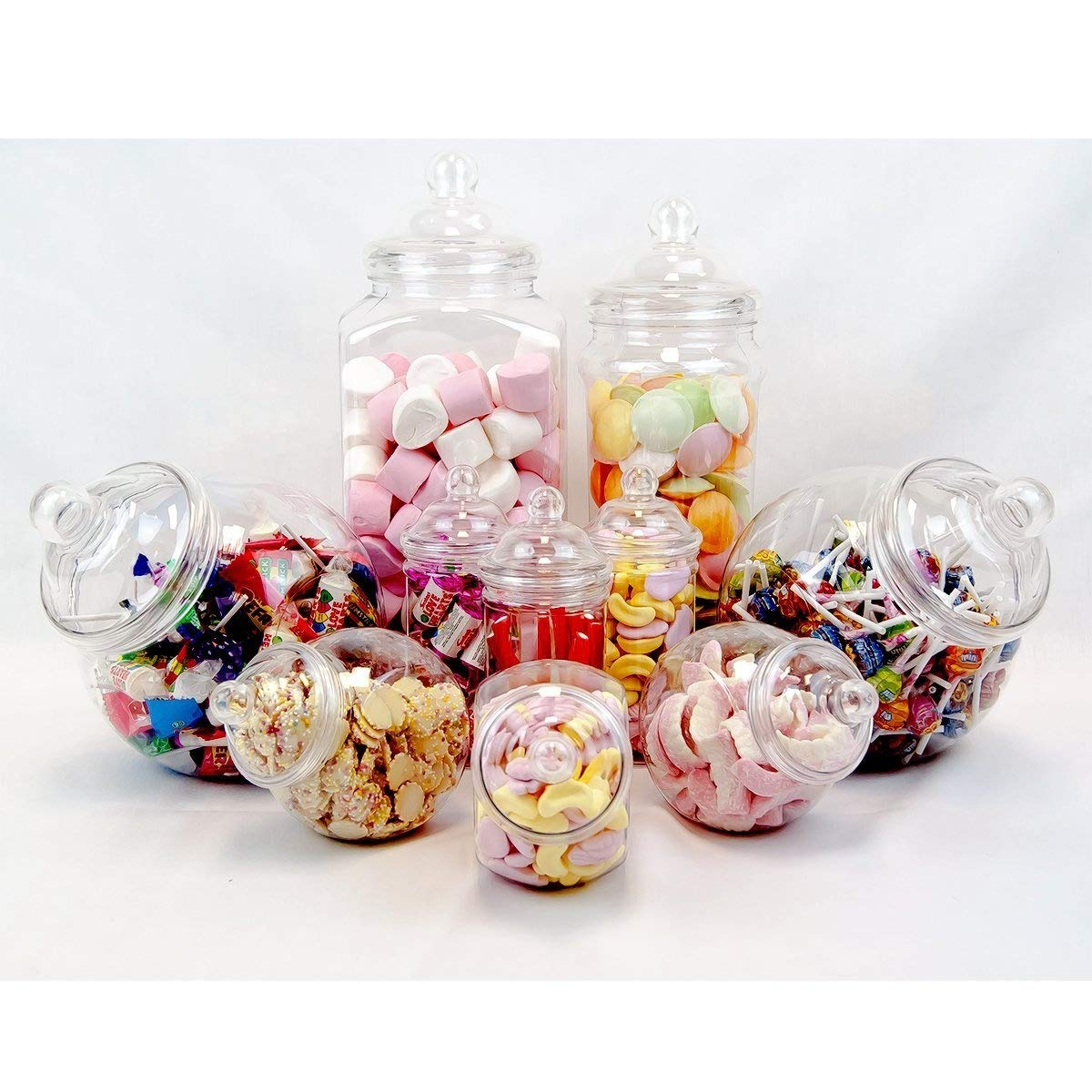 10 Jar Vintage Victorian Pick & Mix Sweet Shop Candy Buffet Kit Party Pack product image