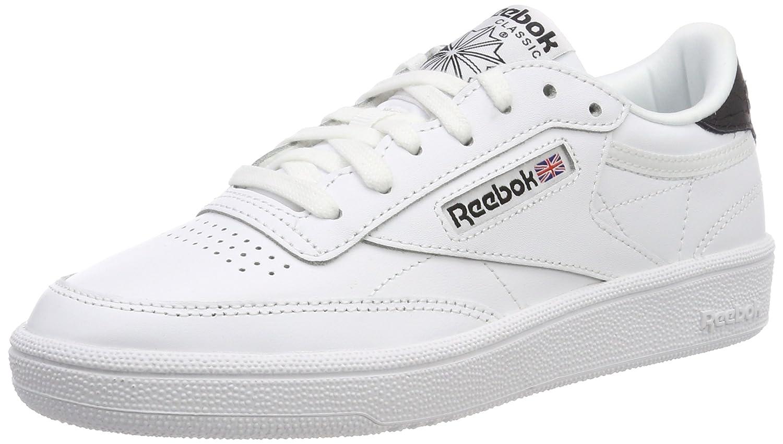 Reebok Club C 85 Emboss, Sneakers Basses Femme, Blanc (White/Black), 35.5 EU
