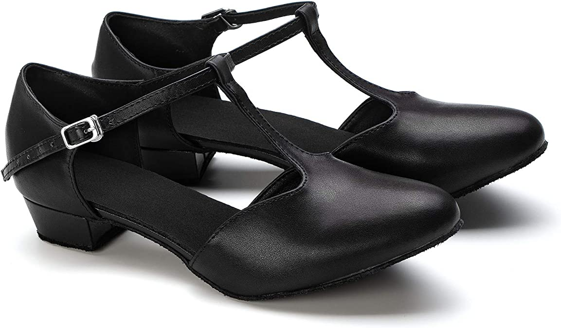 Round Toe Shallow Strap Buckle Strap Dance Shoes 2019 Fashion!!!Classic Womans Platform Low Square Heel Dance Shoes Womens Fashion Waltz Modern Dance Shoes Ballroom Latin Dance Soft Bottom Sandals