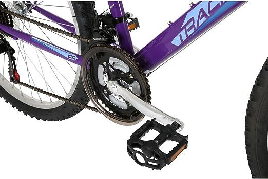 Free Spirit Tracker 18SP para mujer para bicicleta de montaña, negro y morado: Amazon.es: Deportes y aire libre