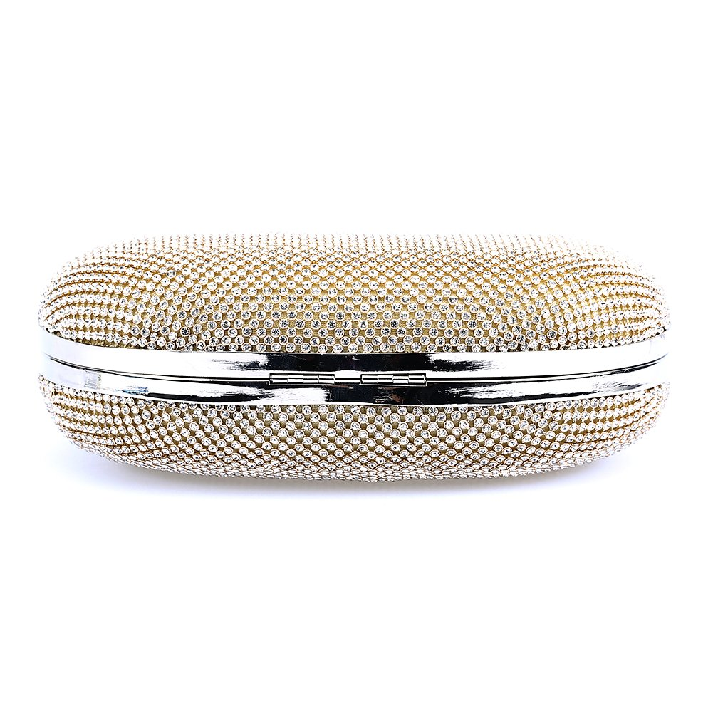 Womens Compact Party Rhinestones Clutch Evening Bags