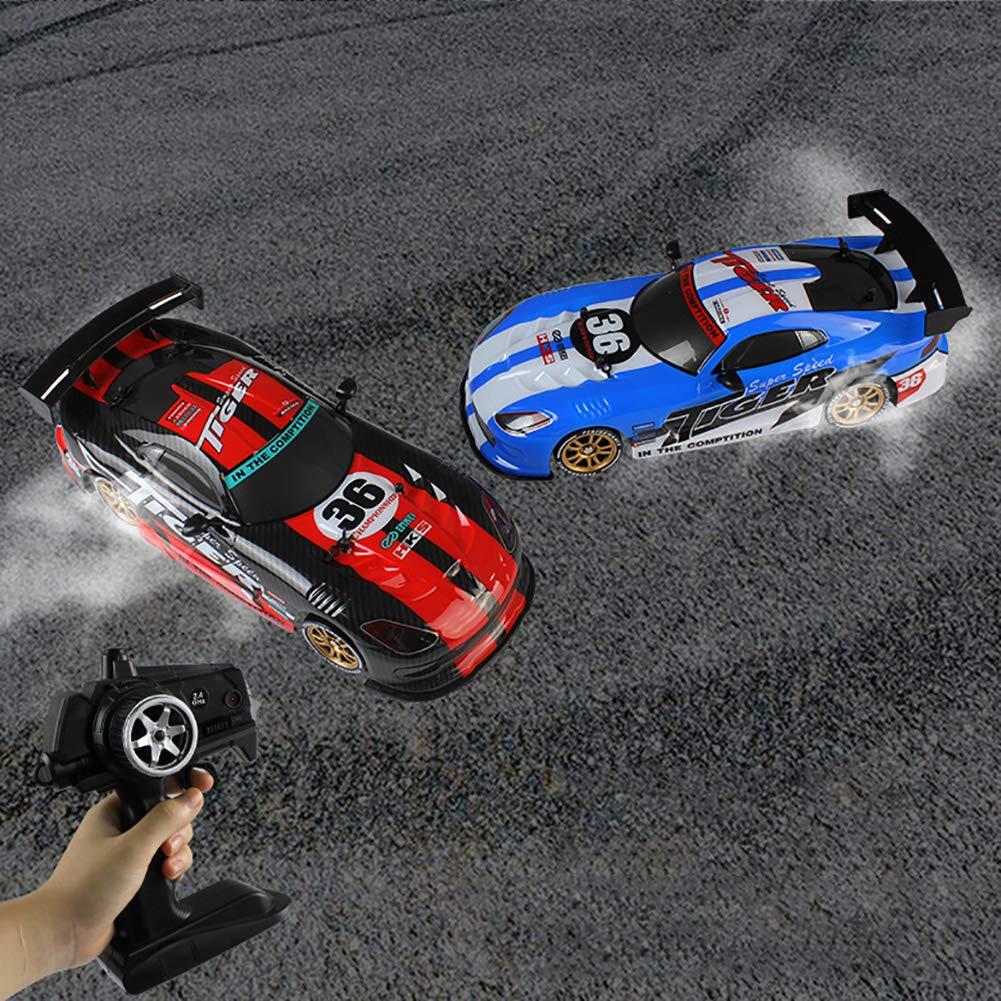 Mallalah 2.4G Control Remoto Car 1/16 Racing Drift Tracción en Las Cuatro Ruedas Hobbie Buggy Vehículo (Rojo): Amazon.es: Juguetes y juegos