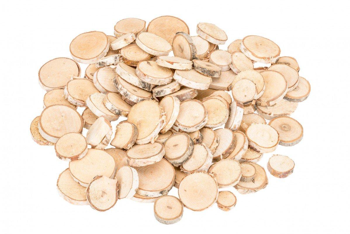 Baumscheiben Birkenholz Deko kleine Birkenscheiben Birkenast Scheiben Holzscheiben zur Dekoration NaDeco Birkenscheiben rund /Ø 2-5cm 400g