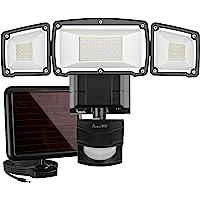 Solar Lights Outdoor, AmeriTop Super Bright LED Solar Motion Sensor Lights with Wide Angle Illumination; 1600LM 6000K, 3…