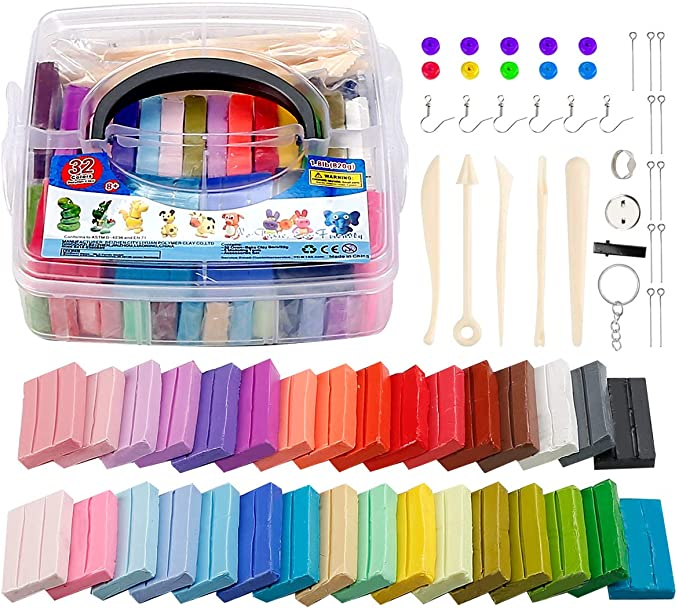 West Bay 60 Colors 1 oz//Block Oven Bake Modeling Clay Kit with 15 Sculpting Clay Tools and 16 Kinds of Accessories Polymer Clay 276pcs Ideal DIY Clay Kids Gifts Art Set Christmas /Ornament