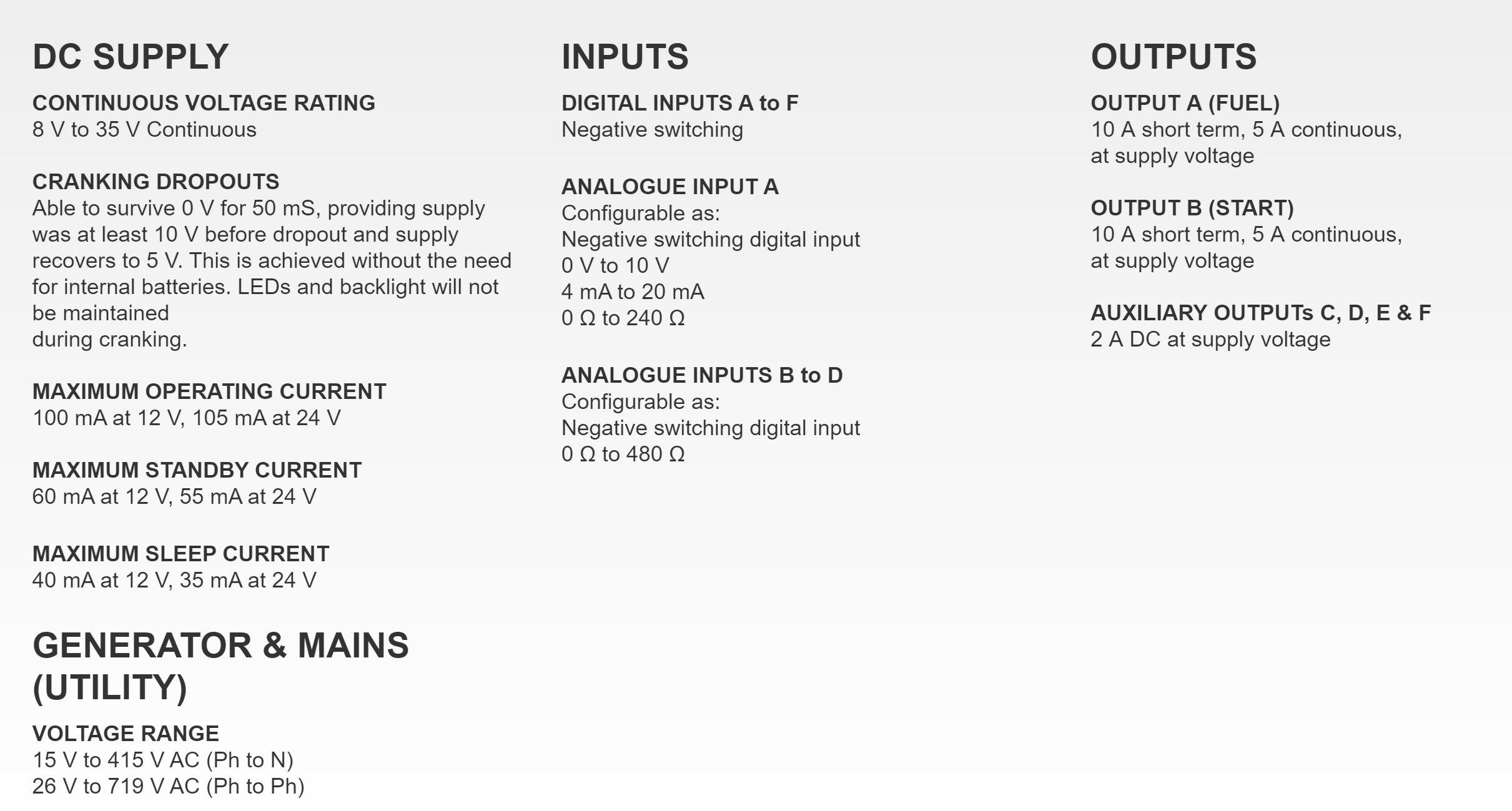 DSE6120 - DEEP SEA ELECTRONICS - Auto Mains (Utility) Failure Control Module 6120 MKII AMF - ORIGINAL - 1 Year Warranty!