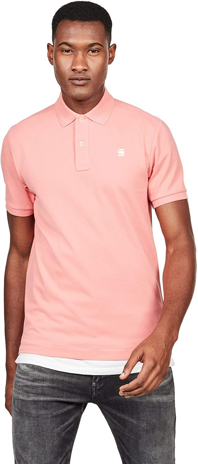 G-Star Polo Hombre Rosa DUNDA Slim Polo SS Cactus Pink: Amazon.es ...