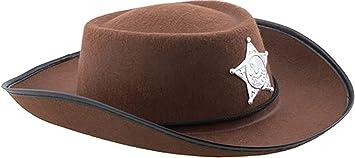 confettery – Sombrero de cowboy con Sheriff Estrella de disfraz para ...